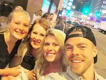 """When you get to hug #derekhough ...wait what was I saying? Lost my train of thought 😂😂 If you're needing an assistant, bff, or right hand woman I can do it all."" Courtesy neuma223 ig"