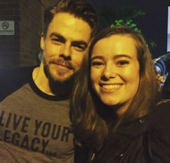 """""""Oh yeah....this happened. (after a 2 hour wait in the rain) #movebeyond #derek&julianne #totallyworthit"""" - Move Beyond - Durham, North Carolina - May 9, 2017 Courtesy defigravt IG"""