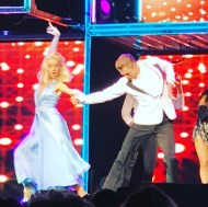 """""""It doesn't get any better than this! #movebeyond #quickstep #choreography @juleshough @derekhough"""" - Move Beyond - Uncasville, Connecticut - April 30, 2017 Courtesy erinm_hip2bfitmama IG"""