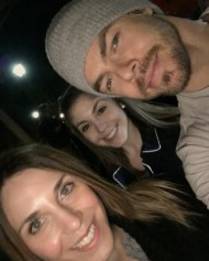 """""""When you wait & freeze for 40 min, then your phone dies, then your only allowed 1 selfie....#thankssissy @itsbrittstar!! #MoveLiveOnTour was excellent!! I just want to dance with @derekhough 😍"""" - Move Beyond - Morristown, New Jersey - May 3, 2017 Courtesy itsme_allyrose IG"""