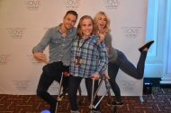 """After over 3 years of waiting, I finally met my two favorite humans! @juliannehough and @derekhough you are my inspirations! ❤ #MoveBeyond"" - Move Beyond - Uncasville, Connecticut - April 30, 2017 Courtesy mbunstine13 twitter"