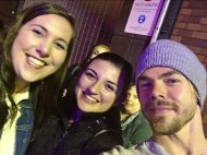 """If motion = emotion, then I'm doing cartwheels 🤸🏽‍♀️🤸🏽‍♀️ would stand in the rain any day to meet these two inspiring siblings! #moveliveontour #movebeyond @juleshough @derekhough 💃🏻❤️"" - Move Beyond - Boston, Massachusetts - May 5, 2017 Courtesy shann1124 IG"