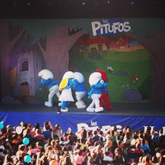 Smurfs / Pitufos at Habaneras - from Instagram