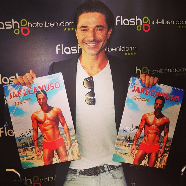 #JakeCanuso will be at #FlashHotel in #benidorm on Saturday from 11:30-14:30 signing his 2014 calendar - from Instagram