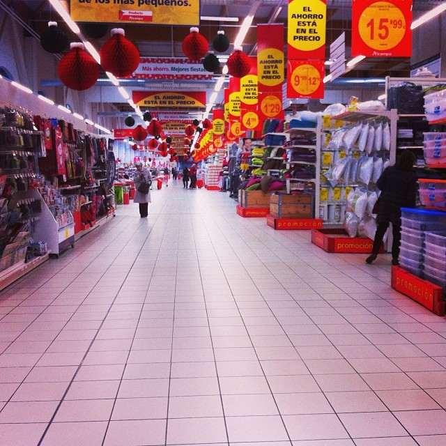 Supermarket shopping, the Sunday before Xmas. They're the tills on the left - from Instagram