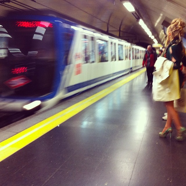 Metro to Gran Via - from Instagram