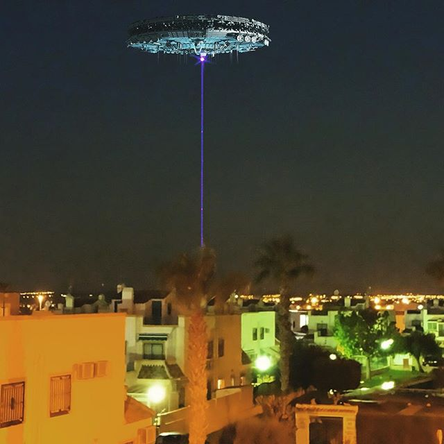 UFO in Torrevieja - from Instagram