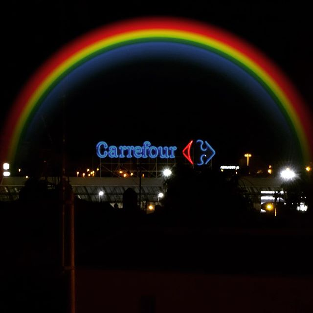 #Carrefour #rainbow #arcoiris #costablanca #spain #españa #Torrevieja - from Instagram