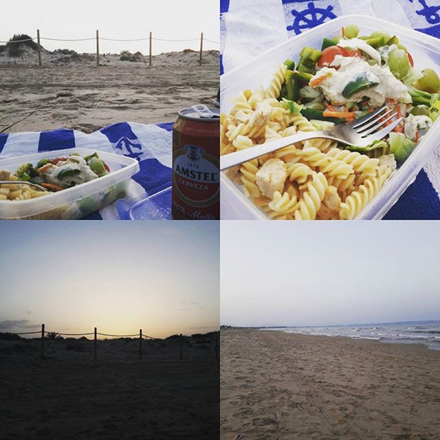 Naked dinner at the beach. - from Instagram