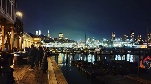 #autohash #SanFrancisco #UnitedStates #California #city #travel #traveling #visiting #instatravel #instago #water #cityscape #panoramic #river #dusk #evening #illuminated #building #bridge #tourism #architecture #light #skyline #vehicle #watercraft #reflection #outdoors #sealions #pier39sanfrancisco - from Instagram