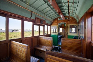 Loop Trolley Seattle car Interior 2a