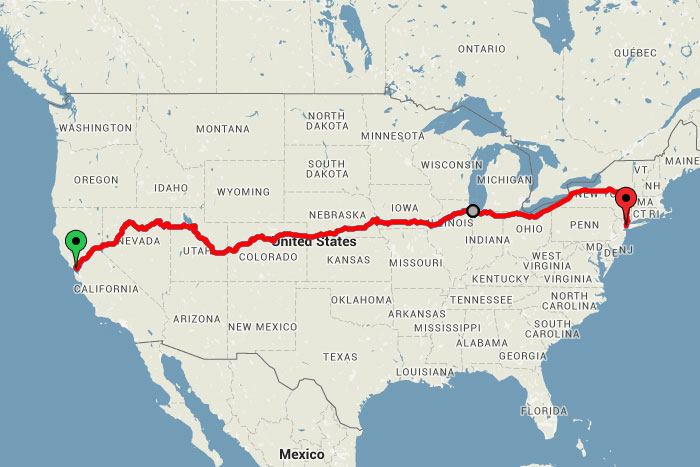across the usa by