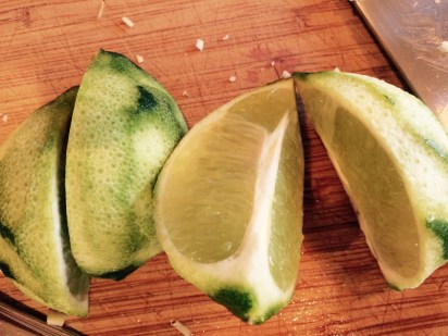lime (after zesting)