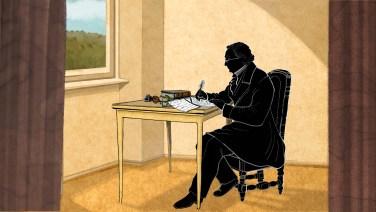Mörike writing