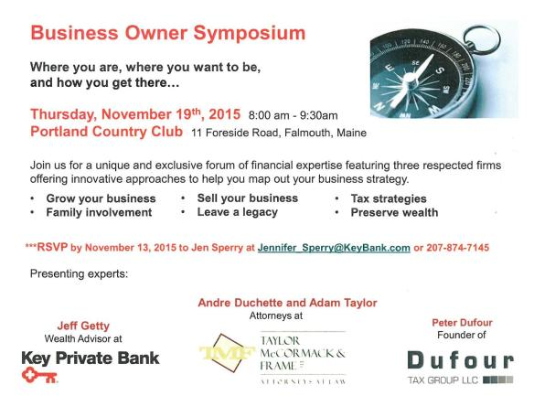 Business Owner Symposium - 11-7-15