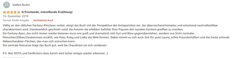 Meine zweite Amazon Bewertung :-)