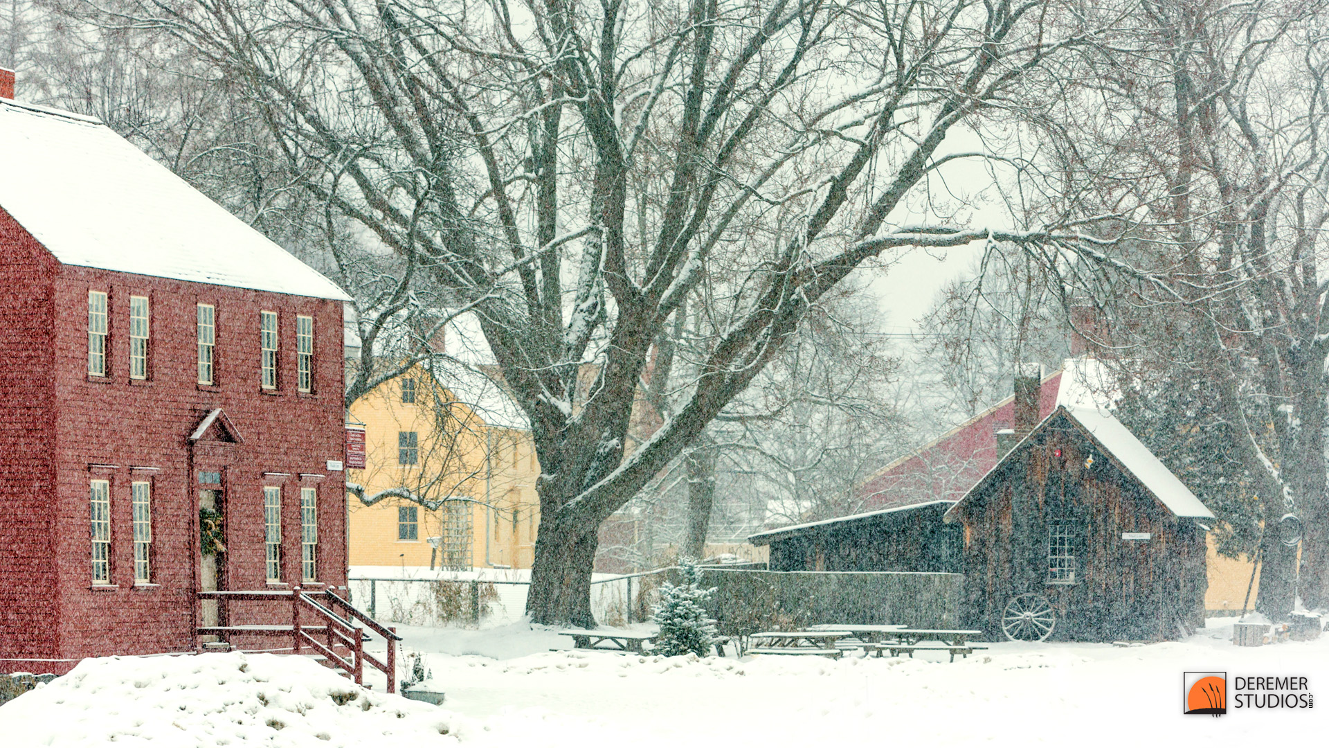 Free Christmas Falling Snow Wallpaper Up North Fine Art Shoots From North Of Fl A Snowy