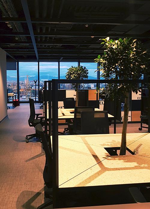 Panoramica degli uffici di DeRev nella splendida cornice del Fintech District di Milano