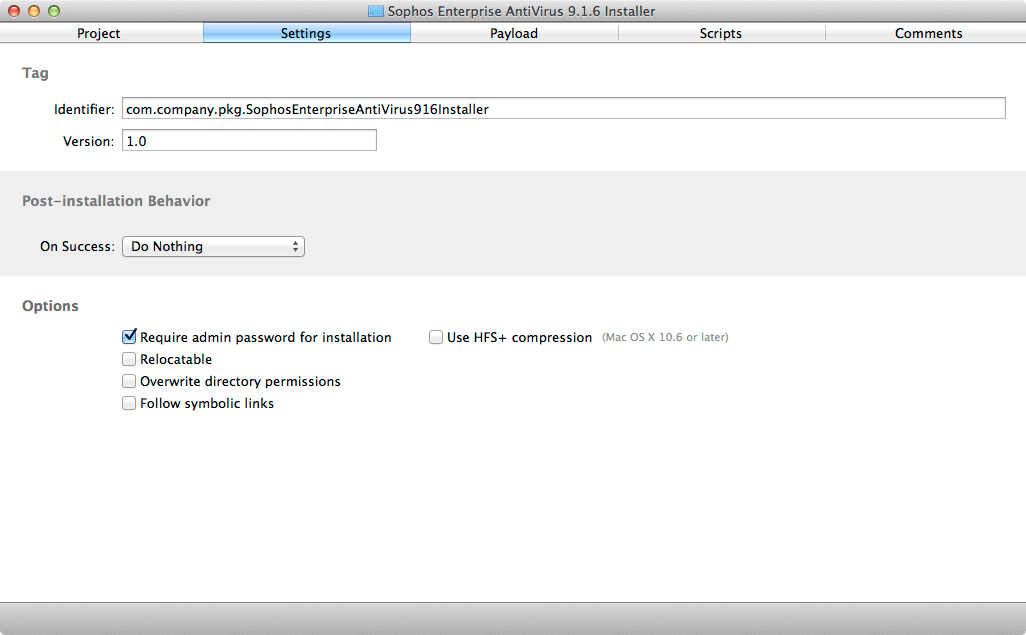 Deploying Sophos Enterprise Anti-Virus for Mac OS X 9.x