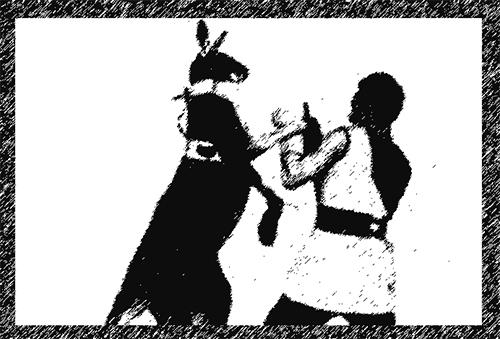 Das boxende Känguru der Berliner Brüder Eugen und Max Skladanowsky