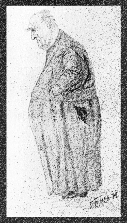 Der Jesuitenpater und medienpädagogische Pionier Abbé Joseph Joye: Zeichnung eines unbekannten Künstlers