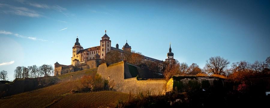 Festung Marienberg. Abendstimmung
