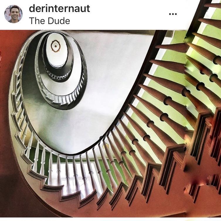 Wendeltreppen sind ein Liebling aller Instagrammers