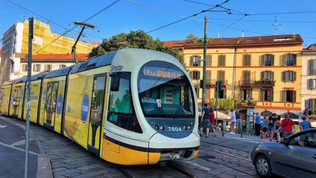 Retro Tram Milano Navigli Quartier Reiseblog