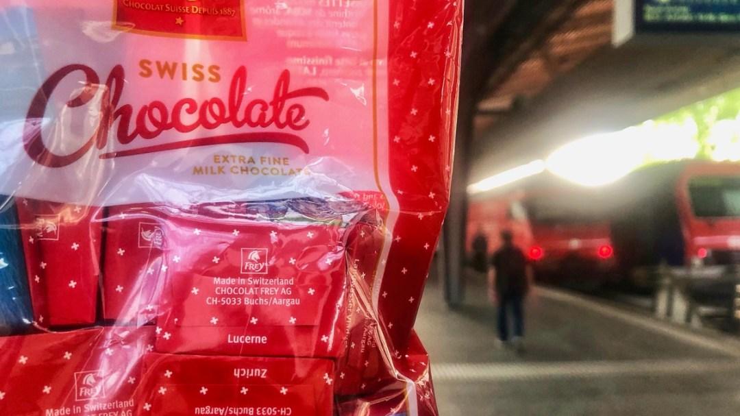 Schokolade auf Reisen mitnehmen