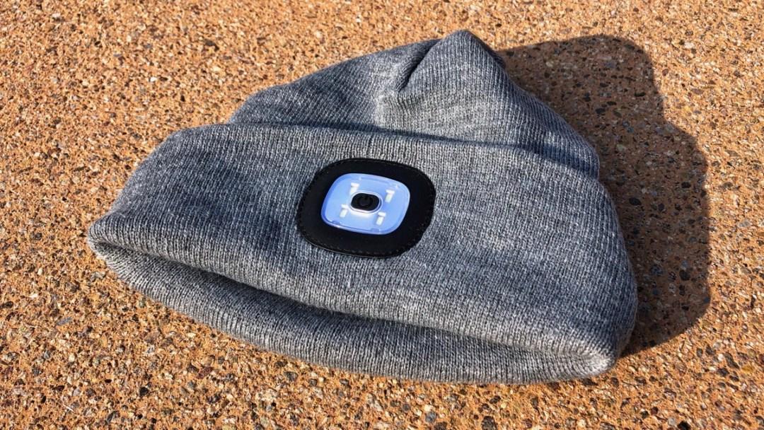 Bluetooth Beanie Mütze mit LED-Licht, Musik und Freisprech-Telefonie