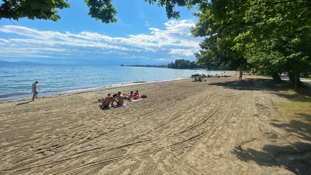 Vidy Strand in Lausanne, Genfersee Schweiz