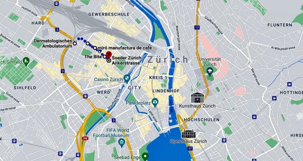 Stadtplan Zürich Brauerstrasse Starke Strecke Internaut