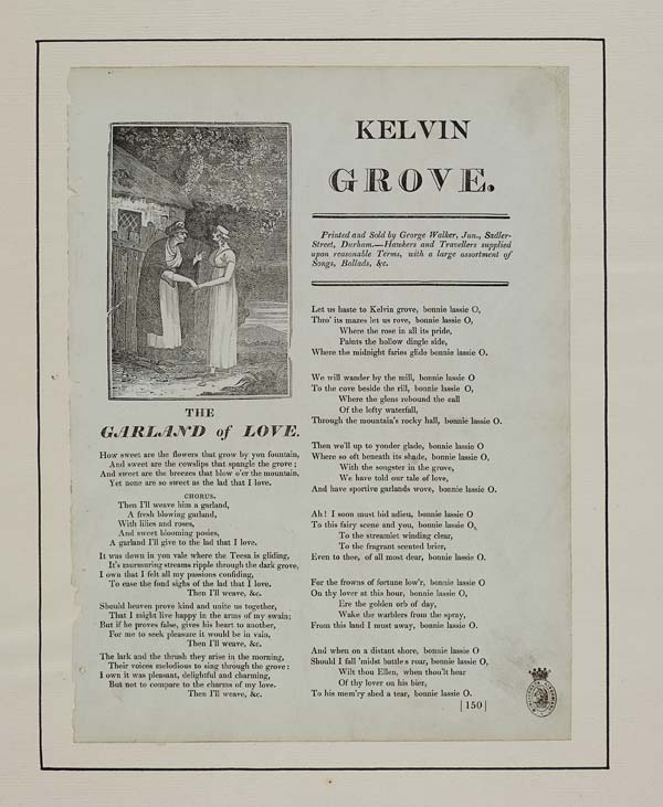 'The Garland of Love' - broadside from the English Ballad collection, National Library of Scotland