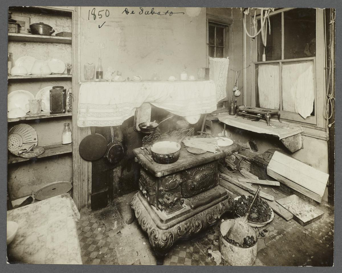 Tenement Home Kitchens  Community Service Society Photographs