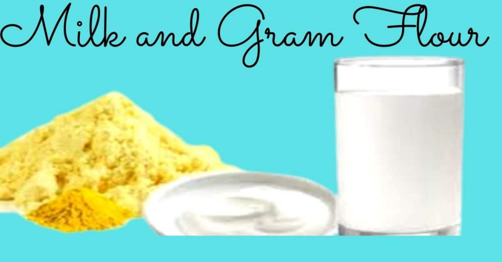 Milk and gram flour tan removal face packs