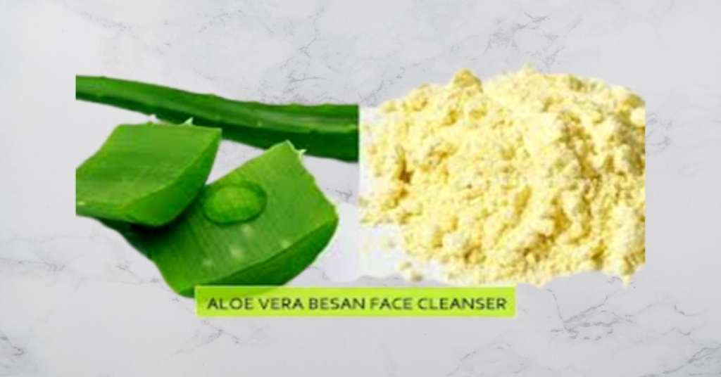Aloe vera and besan tan removal face packs for instant glow.