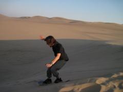 Ich beim Sandboarden 2