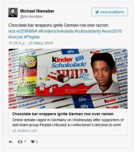 Kinder chocolate-immigrant kid