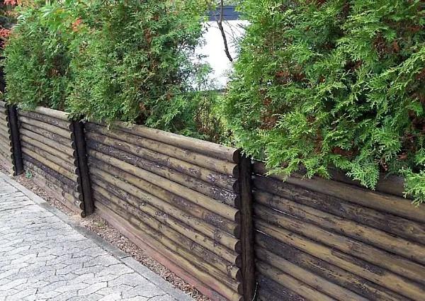 Einfacher Zaun Aus Rundholzstangen ) Leicht Nachzubauen