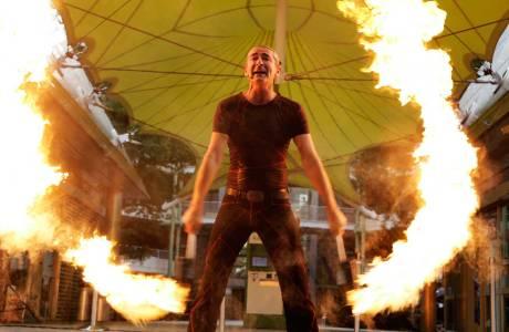 Feuershow für das Sommerfest der SITA Airport IT GmbH