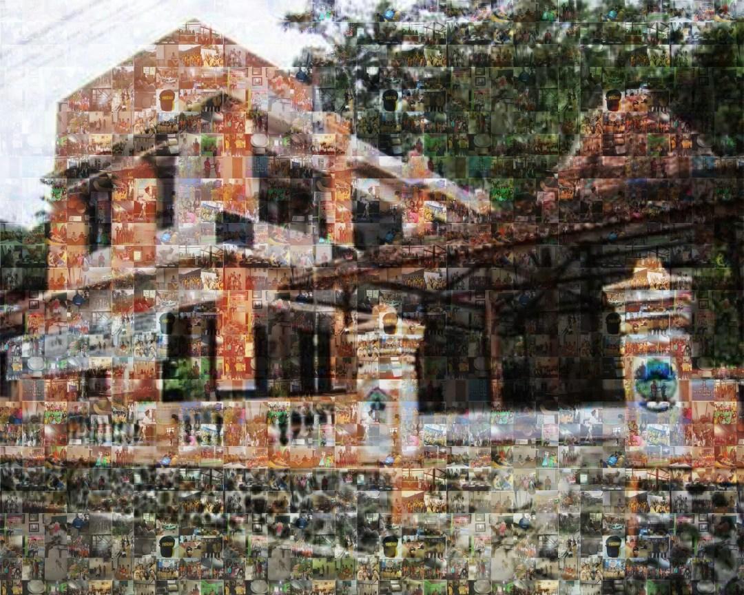 Mozaik Kantor Desa Dermaji