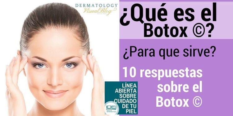 10 respuestas sobre el botox por el dr. miguel sanchez viera
