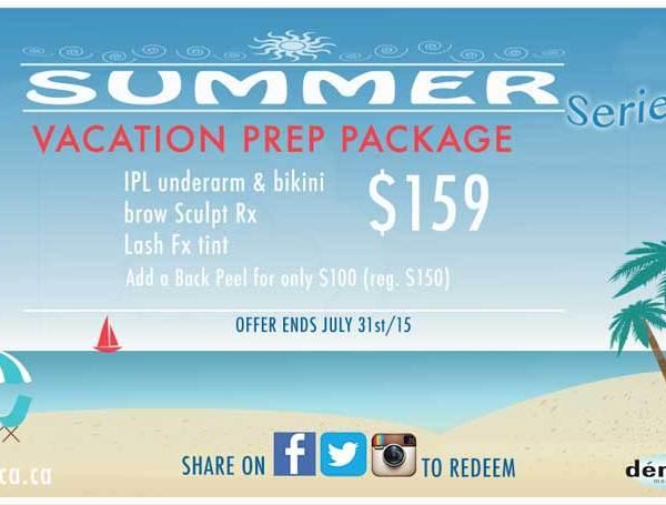 SummerSeries Vacation PREP Package, $159