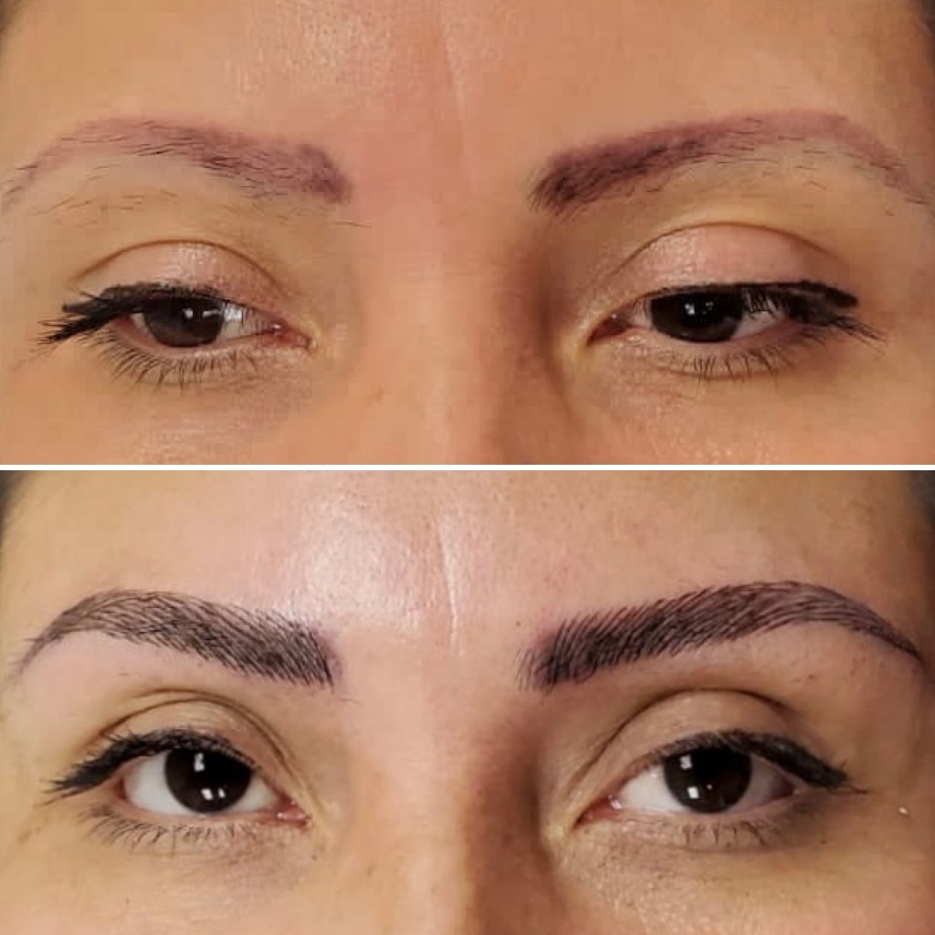 microblading pics before and after level 3