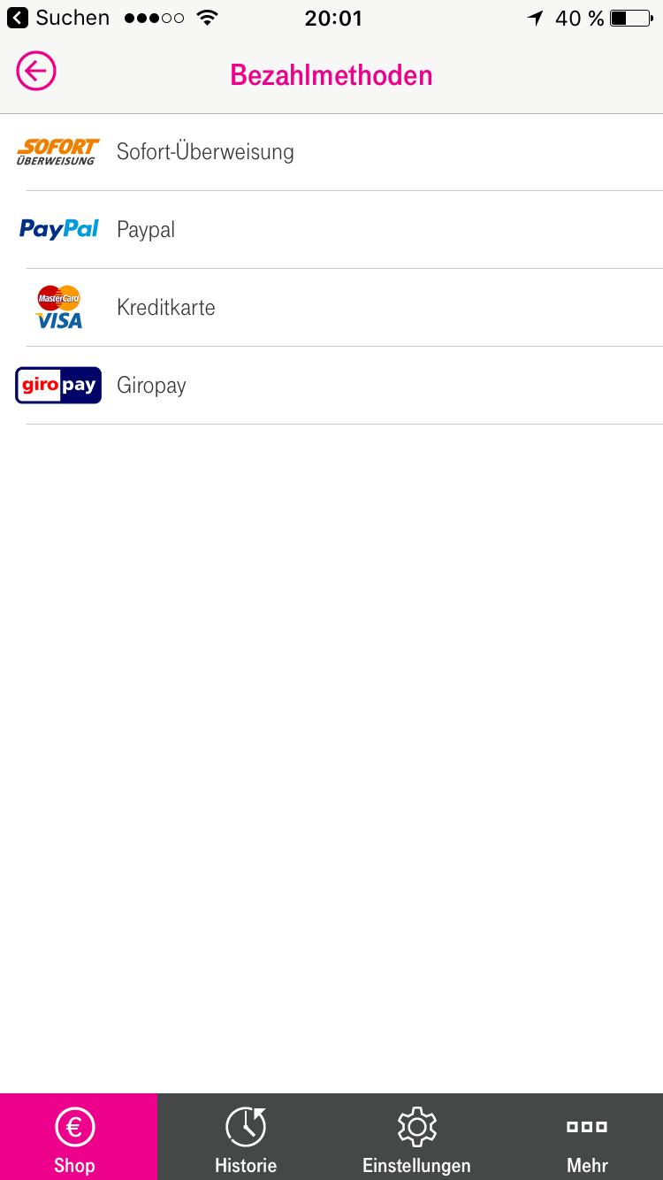 Als Bezahlverfahren stehen Sofortüberweisung, PayPal, Kreditkarte und Giropay zur Verfügung