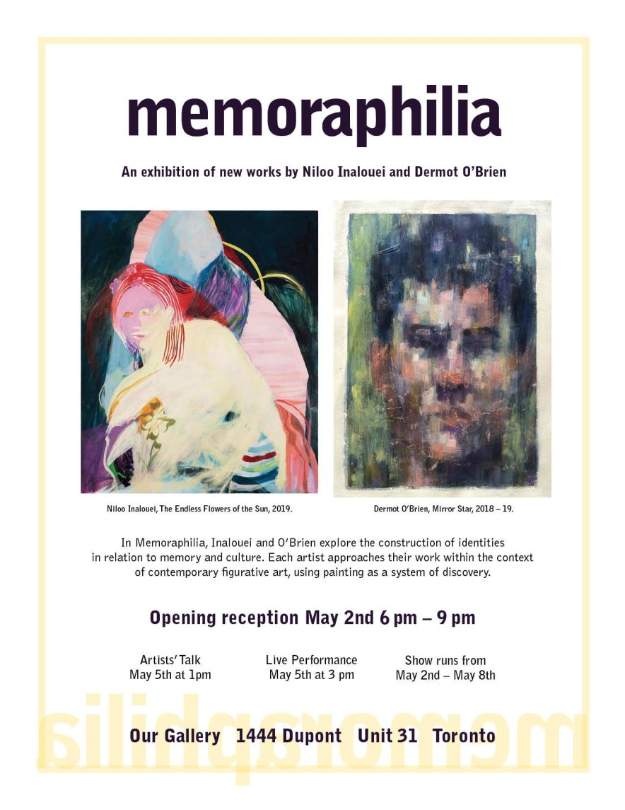 Memoraphilia Invitation, May 2, 2019