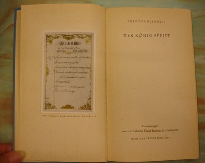 Theodor Hierneis. Der König speist