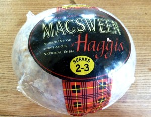 Haggis aus einem Supermarkt in London