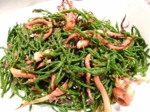 Salicornes mit Tintenfischarmen