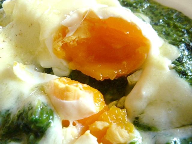 Pochierte Eier überbacken
